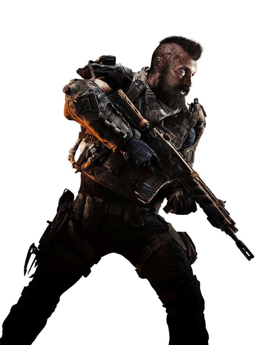 Bo4 clipart vector black and white Call of Duty: Black Ops 4 Center Soldier PNG Image - PurePNG | Free ... vector black and white