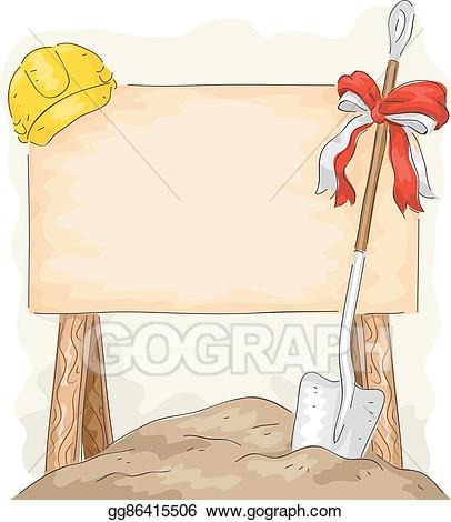 Board breaking clipart clip art library stock EPS Illustration - Ground breaking construction shovel board. Vector ... clip art library stock