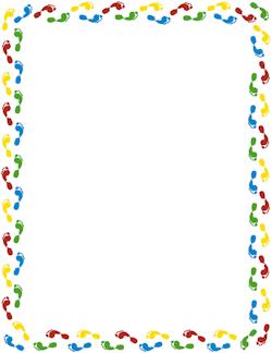 Boarder feet clipart transparent Free Footprint Border Cliparts, Download Free Clip Art, Free Clip ... transparent