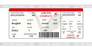 Boarding pass clipart banner freeuse stock Airline boarding pass ticket with QR2 code - vector clipart banner freeuse stock