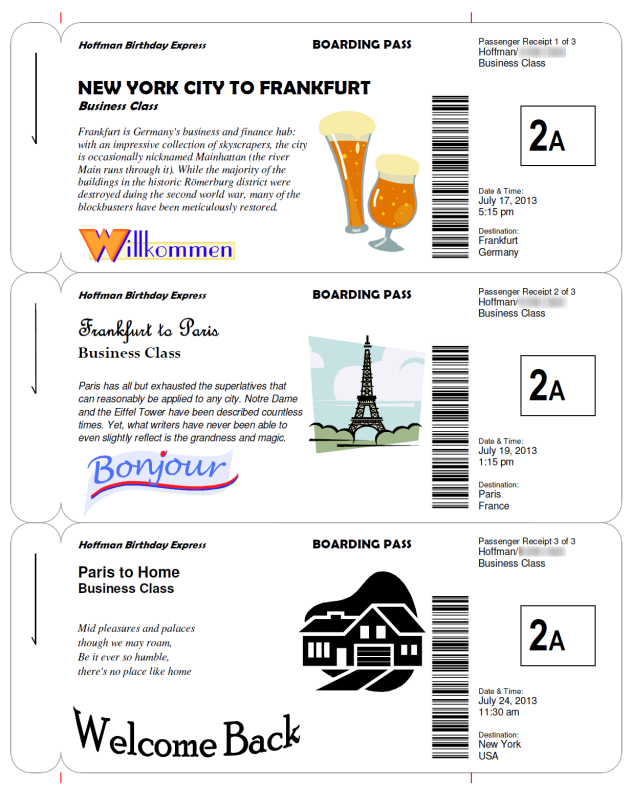 Boarding pass clipart svg freeuse library Making Fake Boarding Passes as Gifts - Le Chic Geek svg freeuse library