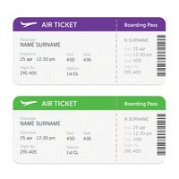 Boarding pass clipart graphic freeuse download Set of The Airline Boarding Pass Tickets stock vectors - Clipart.me graphic freeuse download
