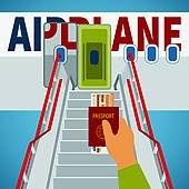 Boarding the plane clipart. Clipartfest available as a
