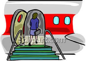Clipartfest a woman . Boarding the plane clipart