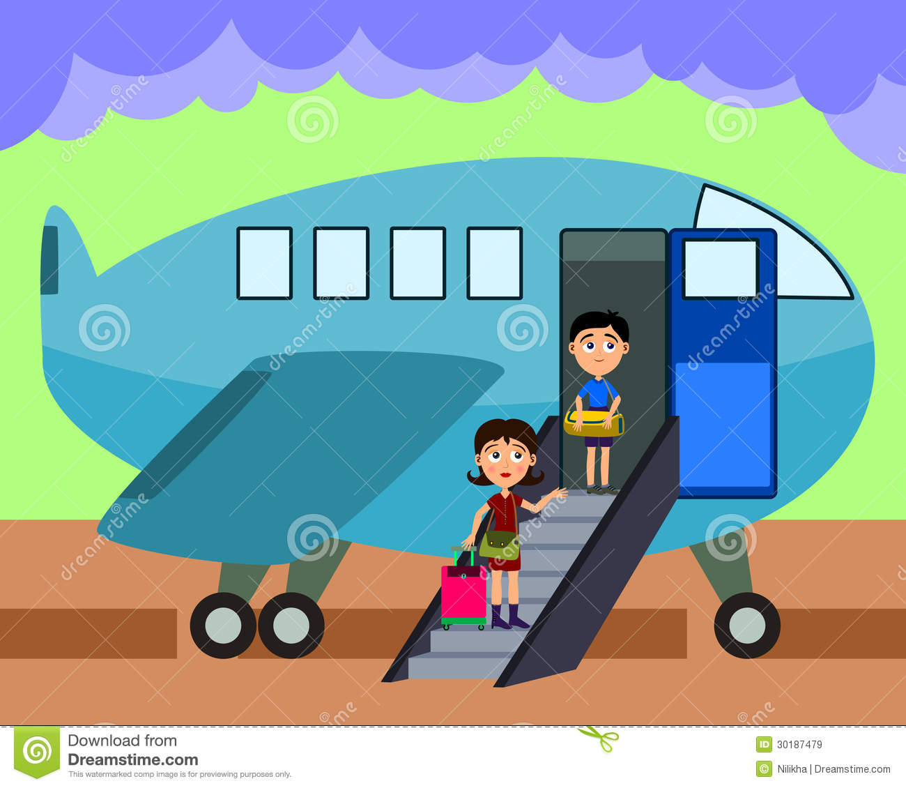Boarding the plane clipart. Clipartfest son an airplane