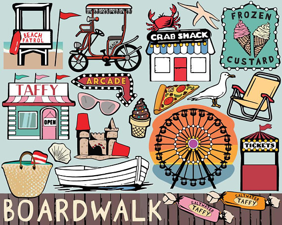Boardwalk clipart png free stock Boardwalk clipart, beach clipart, beach printable stickers, pier ... png free stock