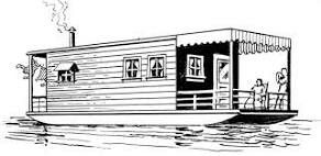 Boat house clipart jpg transparent stock Houseboat | Free Clipart for all Occasions | Clip art, Boat, Logos jpg transparent stock