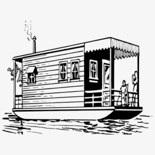 Boat house clipart banner transparent download Boat House Clipart Black And White - House Boat Clip Art ... banner transparent download