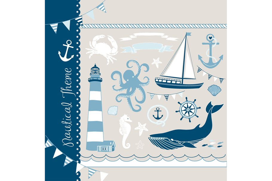 Boat illustrations clipart image library stock Nautical clip art, sea, anchor, boat image library stock