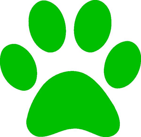 Green Paw Print Bobcat Clip Art at Clker.com - vector clip art ... clip free download