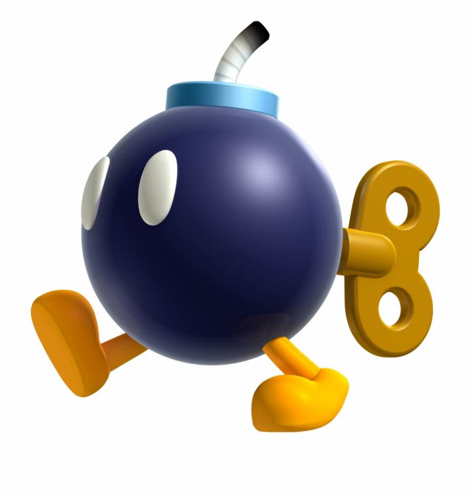 Bob omb clipart image royalty free download Super Mario Bros Clip Art - Bob Omb Mario Free PNG Images & Clipart ... image royalty free download