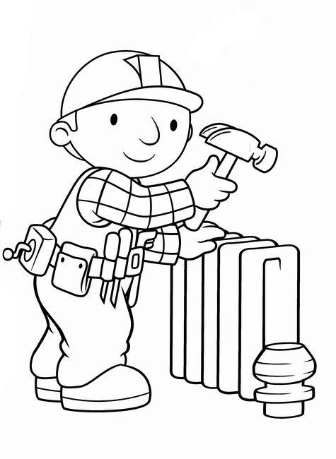Bob the builder clipart black and white clip free download Cartoons Clip Art Bob The Builder   PicGifs.com clip free download