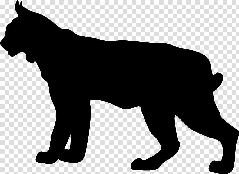 Bobcat clipart png vector royalty free library Black cat , Boxer Bobcat Silhouette , lynx transparent background ... vector royalty free library