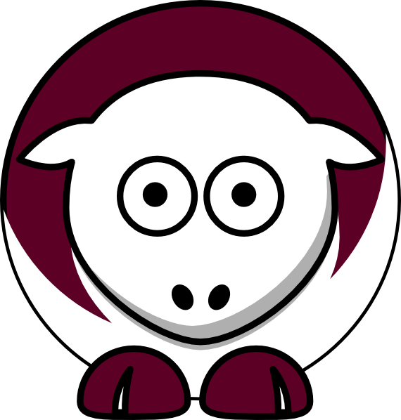 Sheep - Texas A&m Aggies - Team Colors - College Football Clip Art ... jpg library download