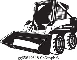 Skid stree images clipart clip art library library Skid Steer Clip Art - Royalty Free - GoGraph clip art library library
