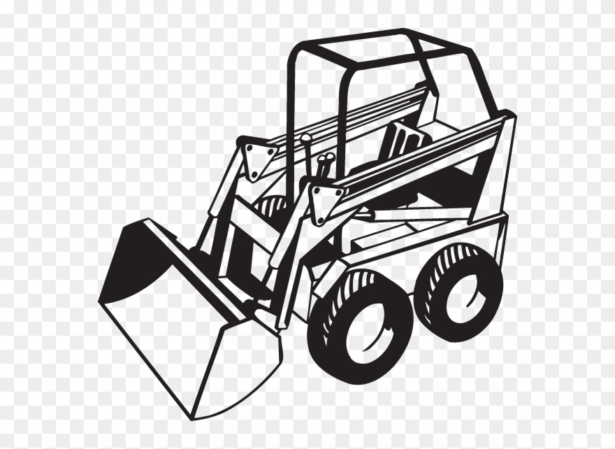 Bobcat tractor clipart clipart library stock Bobcat Tractor Clipart - Png Download (#2415640) - PinClipart clipart library stock