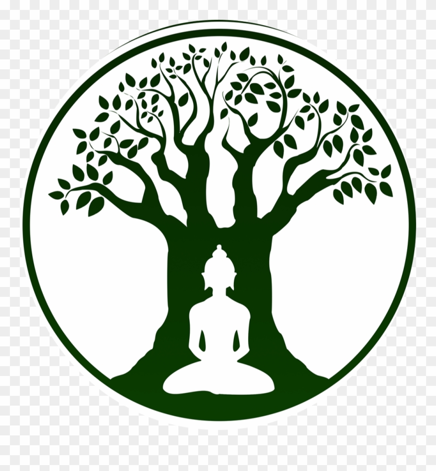 Bodhi day black and white clipart banner stock Bodhi Tree Logo Ftestickersfreetoedit Graphic Black - Bodhi Tree ... banner stock