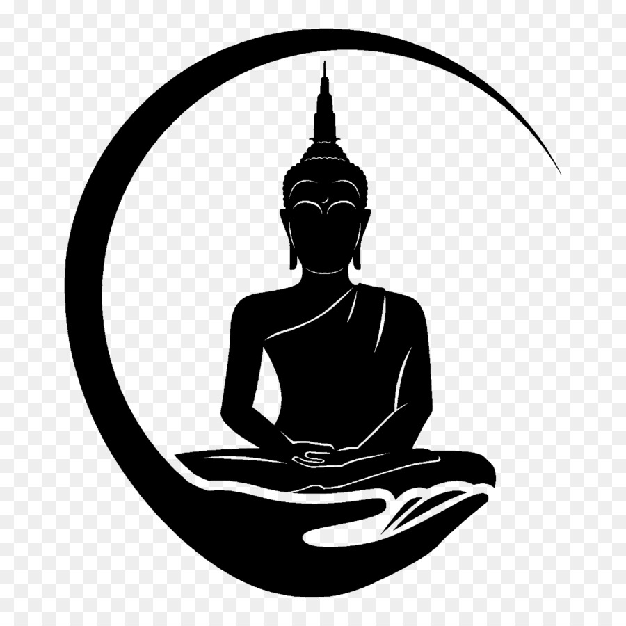 Bodhi day black and white clipart clip art black and white library Buddha Cartoon png download - 1300*1300 - Free Transparent Bodhi ... clip art black and white library
