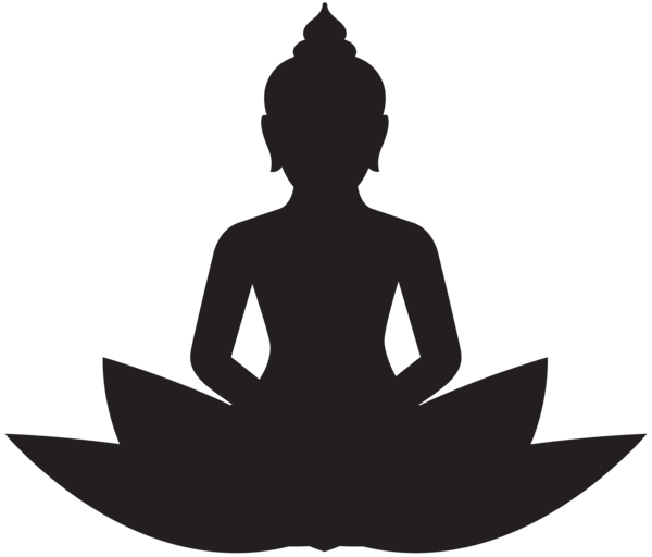 Meditating Buddha Silhouette PNG Clip Art | Silhouette | Pinterest ... transparent download