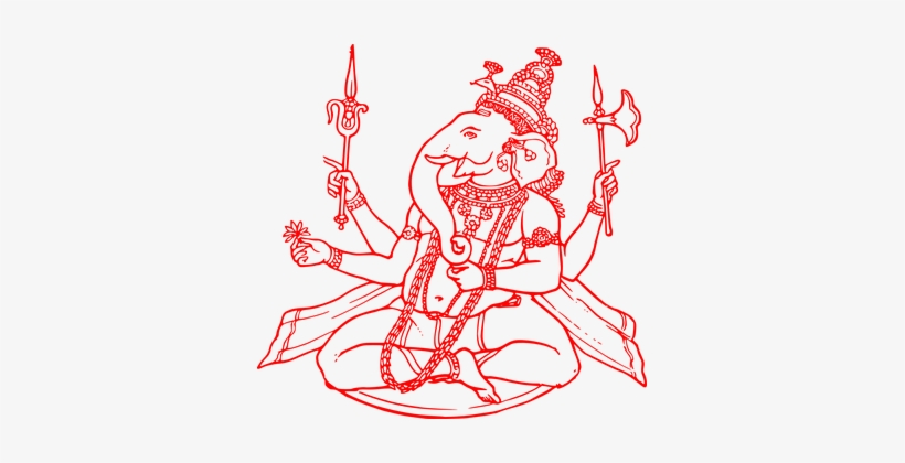 Body as temple of god clipart png free Ganesha Hinduism Hindu Temple God Elephant - Ganesh Ji Clipart Red ... png free