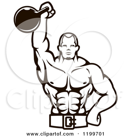 Body bilder clip art freeuse Clipart of Cartoon Strong Black Male Bodybuilders Flexing Muscles ... freeuse