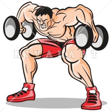 Body bilder clip art vector royalty free library Sports Clipart Image of A Bodybuilder Lifting Free Weights Graphic ... vector royalty free library