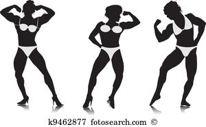 Body bilder clip art. Bodybuilder vector graphics eps