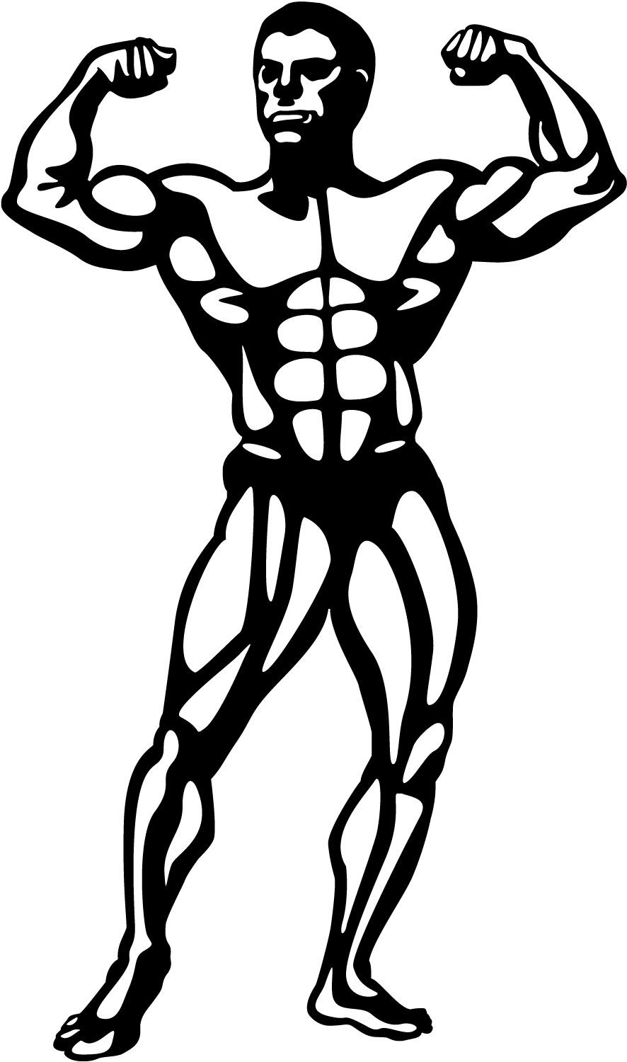 Body bilder clip art banner black and white download Body Builder Clipart - Clipart Kid banner black and white download