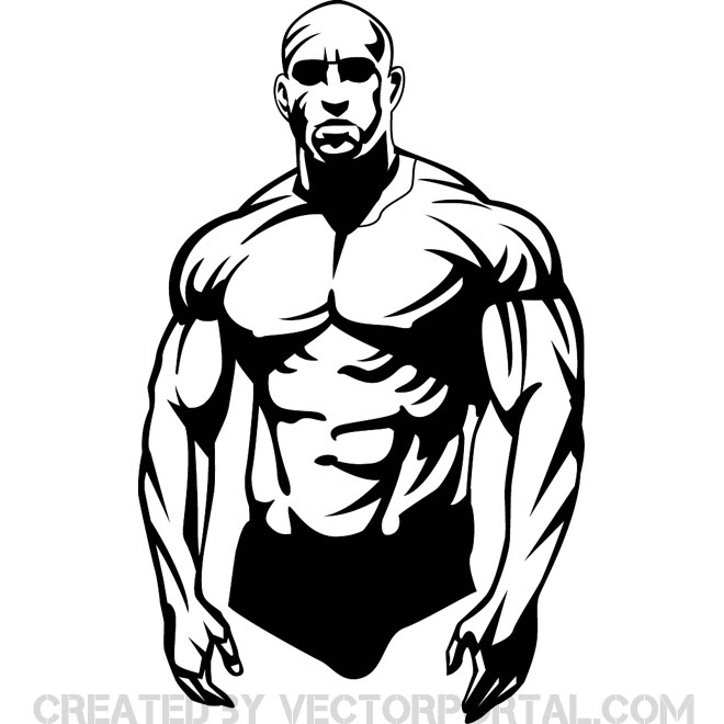 Builder clipartfest bodybuilder vector. Body bilder clip art