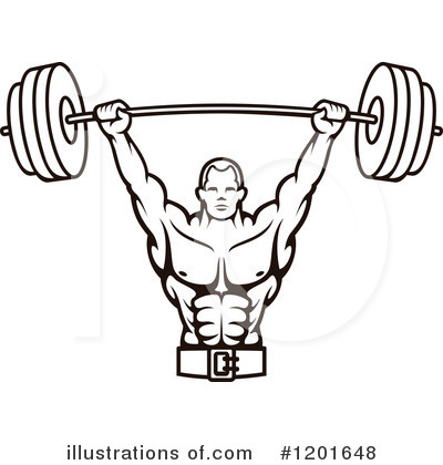Body bilder clip art vector Body builder clip art - ClipartFest vector