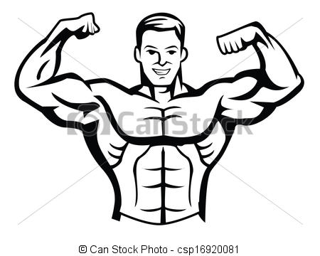 Body bilder clip art black and white Clip Art Black Body Builders Clipart black and white