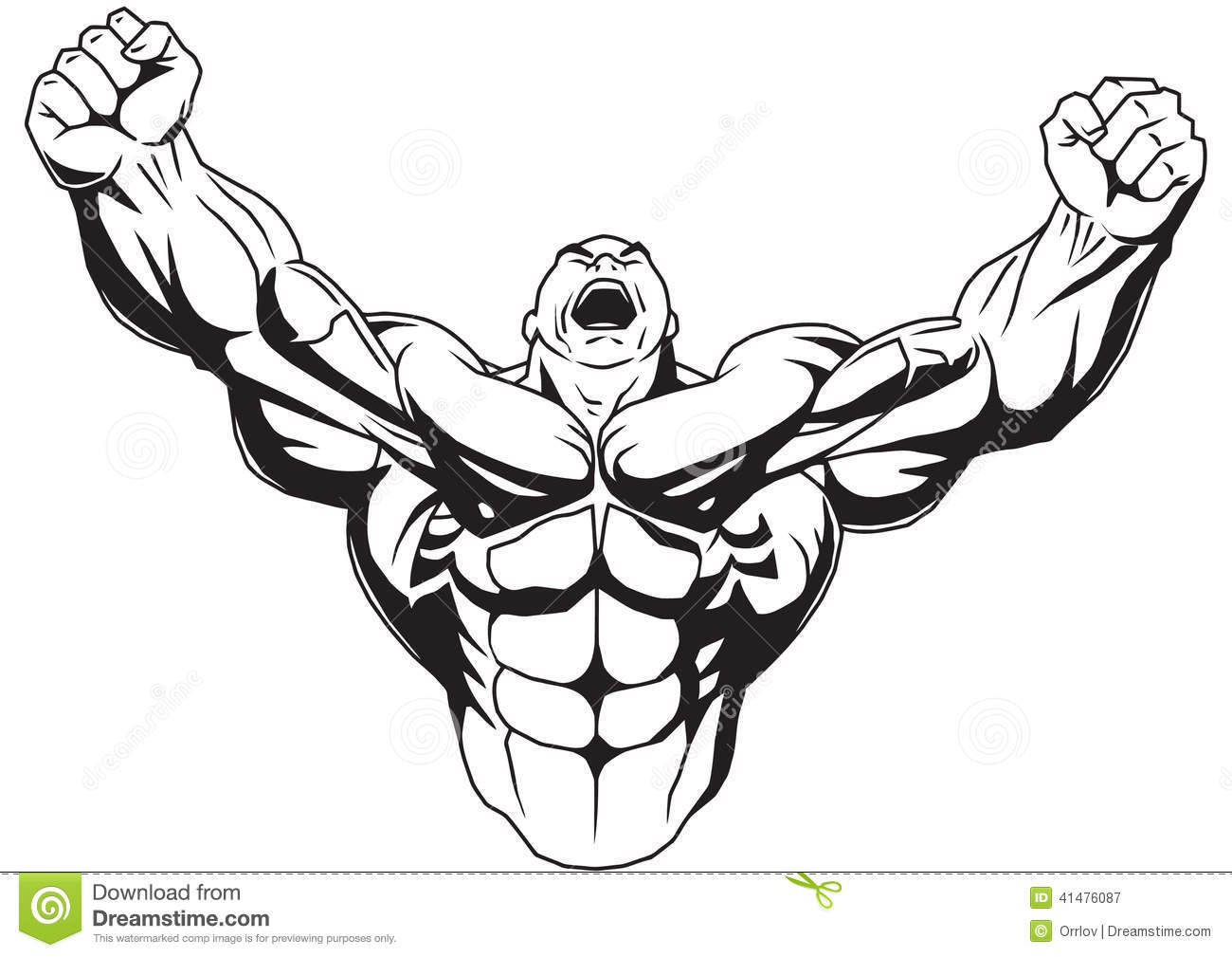 Black muscular guy clipart jpg black and white download Muscle Man Clipart | Free download best Muscle Man Clipart on ... jpg black and white download