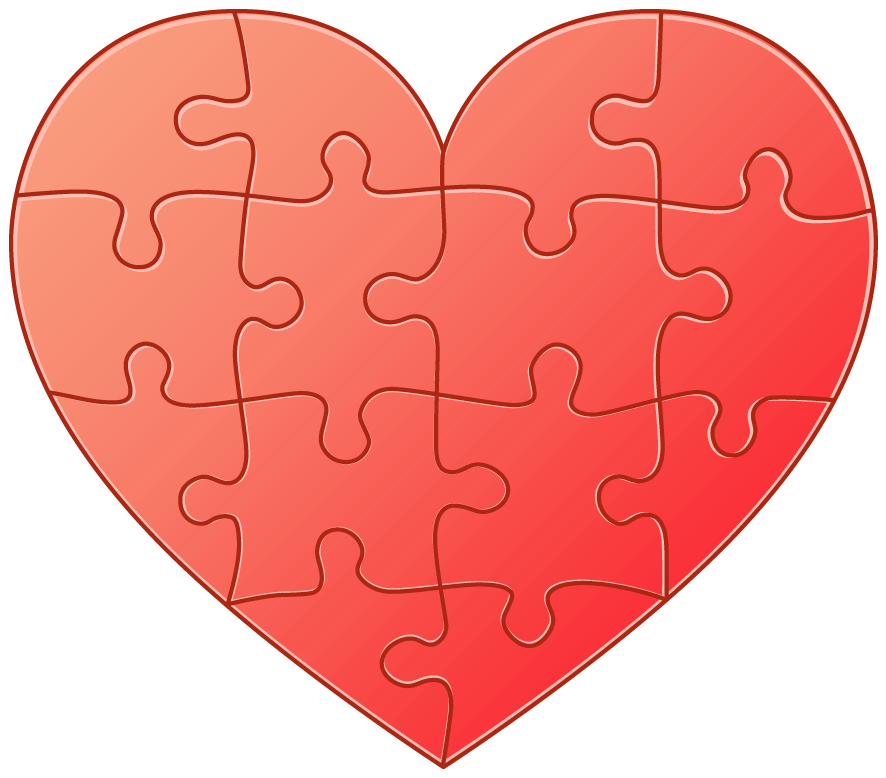 Heart apple clipart freeuse library Heart Puzzle Clipart freeuse library