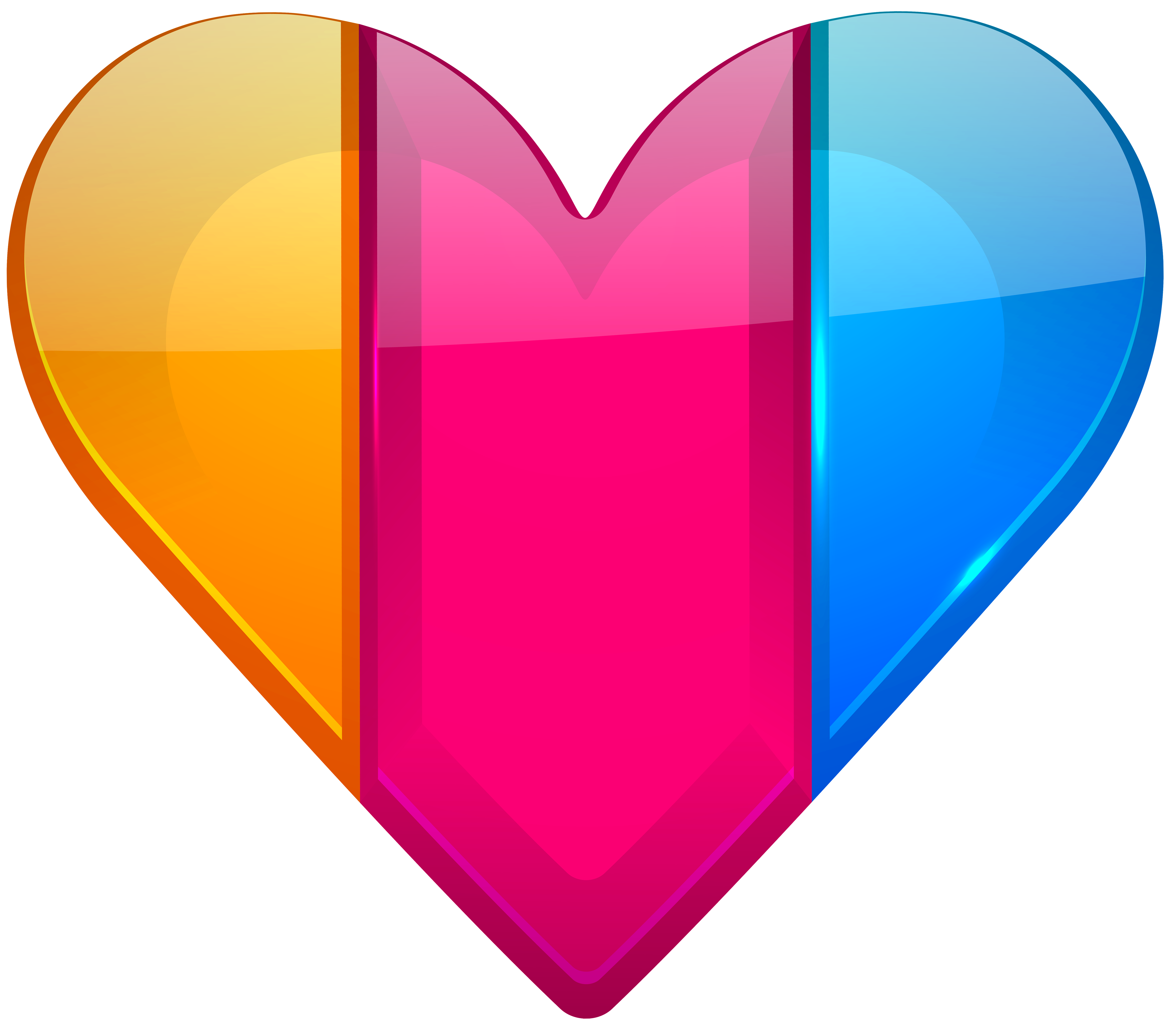 Body heart clipart royalty free Colorful Heart PNG Clipart - Best WEB Clipart royalty free