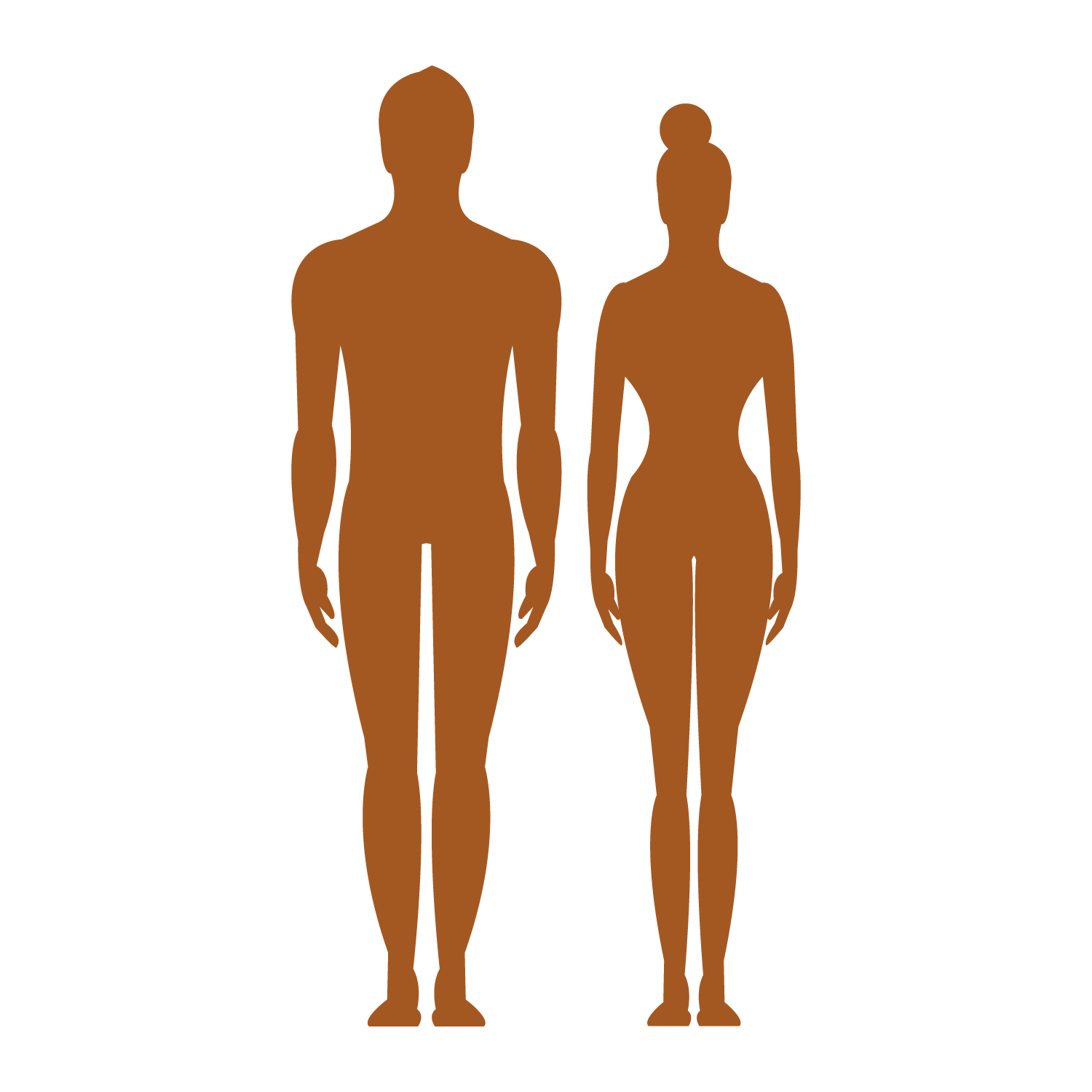 Vector human clipart png freeuse Human body Silhouette Clip art - Vector man woman sign body profile ... png freeuse