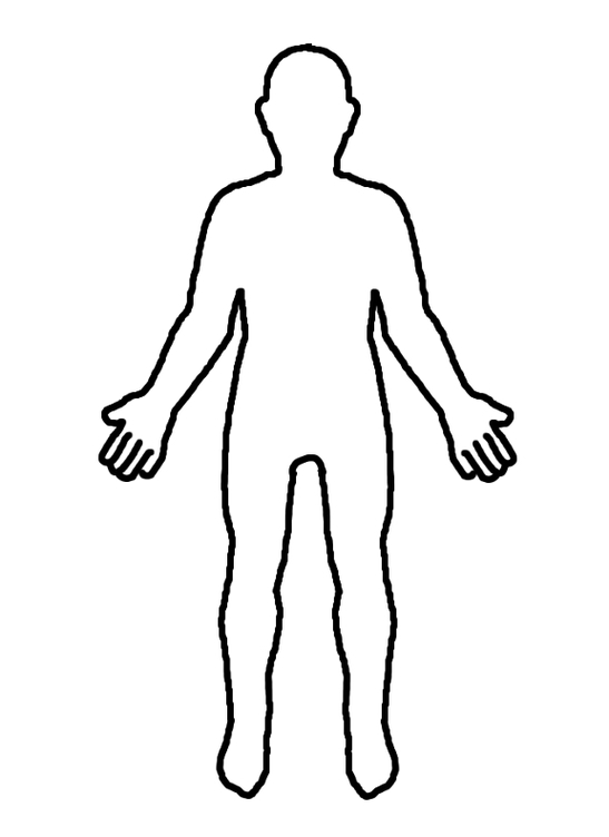 Outline of a body clipart clip art black and white library Free Human Body Clipart Black And White, Download Free Clip Art ... clip art black and white library