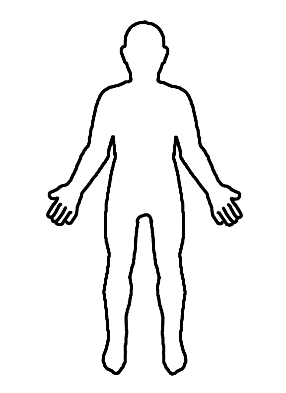 Outline of a body clipart vector royalty free Outline Of A Body | Free download best Outline Of A Body on ... vector royalty free