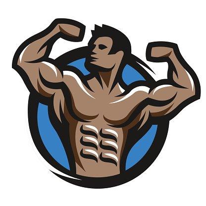 Bodybuilding logo clipart vector transparent stock Posing Bodybuilder Simbol, Logo, premium clipart - ClipartLogo.com vector transparent stock