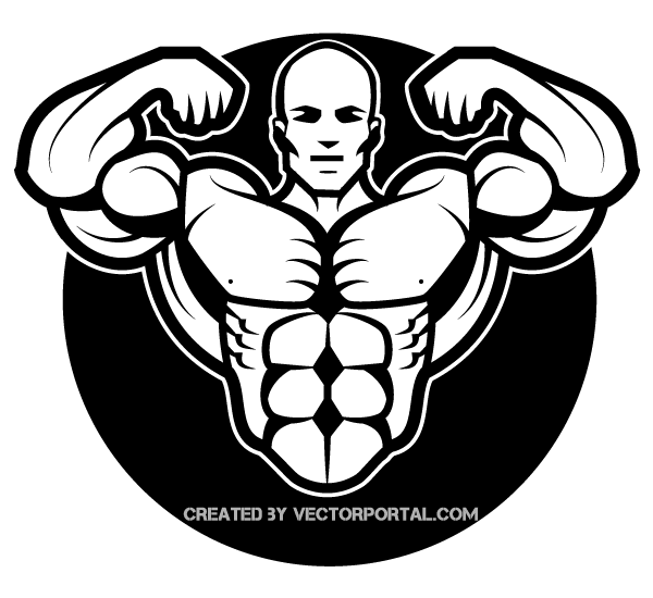Bodybuilding logo clipart banner transparent library Bodybuilder Vector Image | Free Vectors | Gym logo, Bodybuilding ... banner transparent library