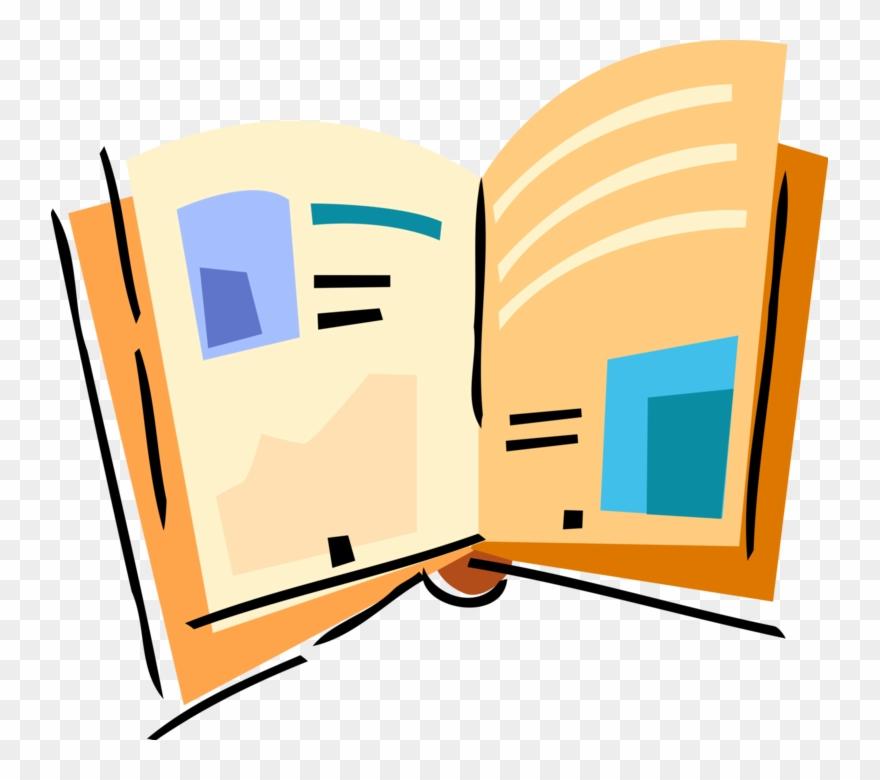 Bogazone clipart jpg black and white stock Vector Illustration Of Open Book Or Magazine Reading - Book Clipart ... jpg black and white stock