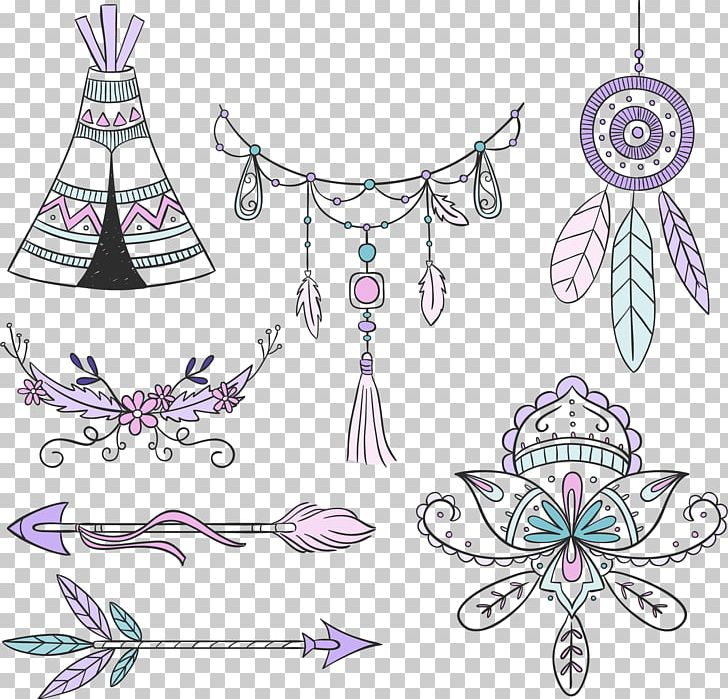 Bohemian colr clipart clip black and white stock Boho-chic Bohemian Style Euclidean PNG, Clipart, Accessories, Arrow ... clip black and white stock