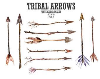Boho arrow clip art. Tribal clipart etsy arrows