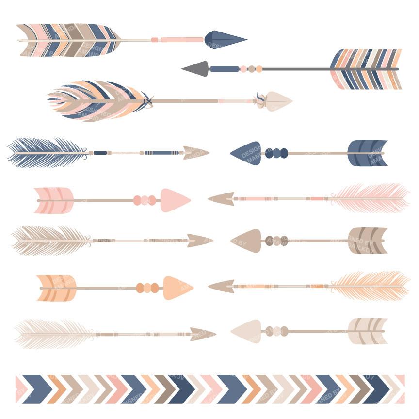 Boho arrow clip art. Clipartfest tribal arrows clipart