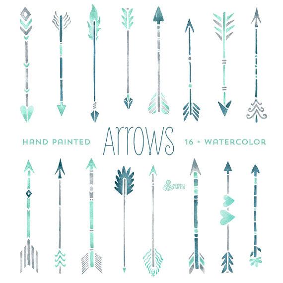 Hand drawn graphics free. Boho arrow clip art