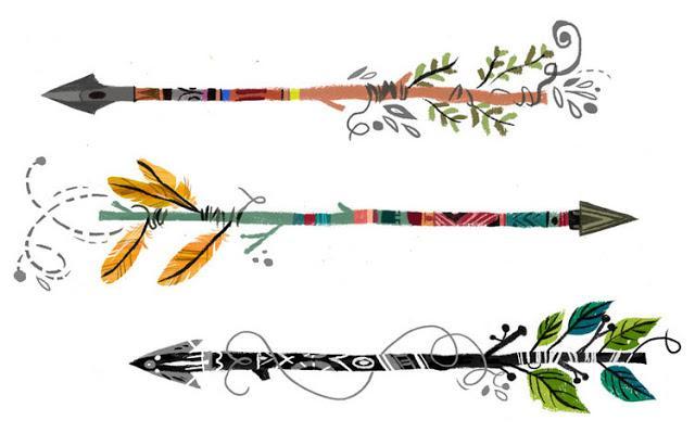 Boho arrow clip art image freeuse stock Boho arrow clipart - ClipartFest image freeuse stock