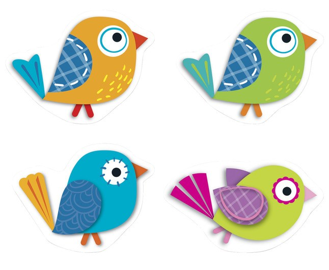 Boho birds clipart