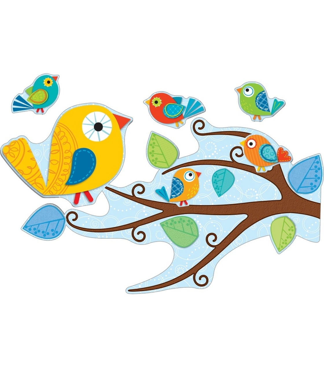 Boho birds free clipart picture freeuse library Boho Birds Bulletin Board Set picture freeuse library