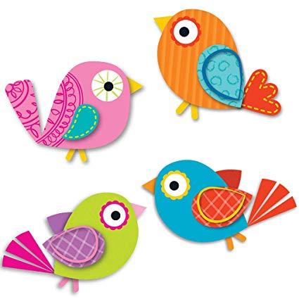 Boho birds free clipart jpg free Carson Dellosa Boho Birds Mini Cut-Outs (120194) jpg free