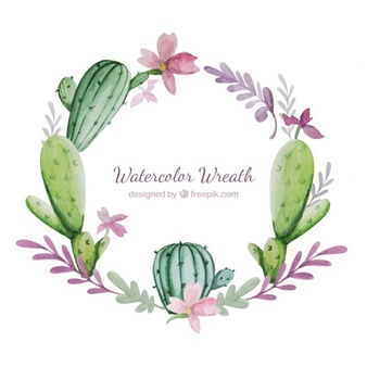 Cactus wreath clipart clip library library Cactus Vectors, Photos and PSD files | Free Download clip library library
