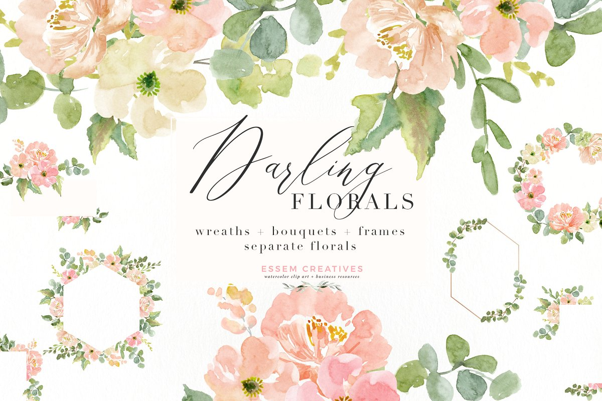 Library Of Watercolor Floral Wedding Invitation Png Royalty Free